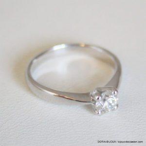 Bague Or 18k 750 Diamant 0.45ct 3.2grs -52-