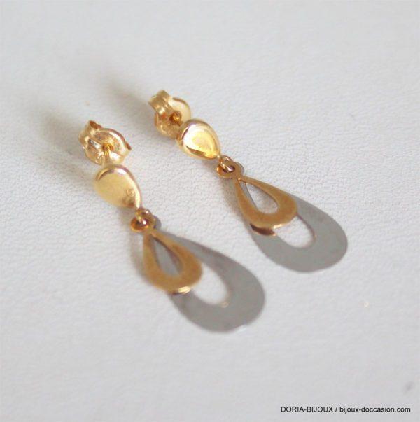 Boucles D 'oreilles Pendante Or 18k 750 - 0.9grs