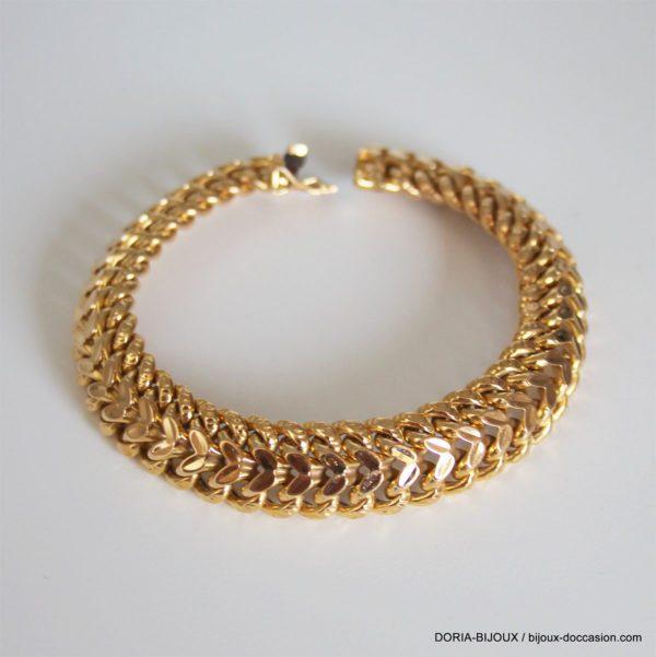 Bracelet Or 750 18k Vintage Maille Russe - 23.3grs