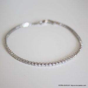 Bracelet Riviere De Diamants Or Gris 750 - 1. 18cts