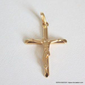 Pendentif Religieux Croix  Or 18k 750 2.4grs