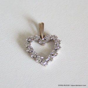 Pendentif Coeur Or 18k 750 Diamants 2grs