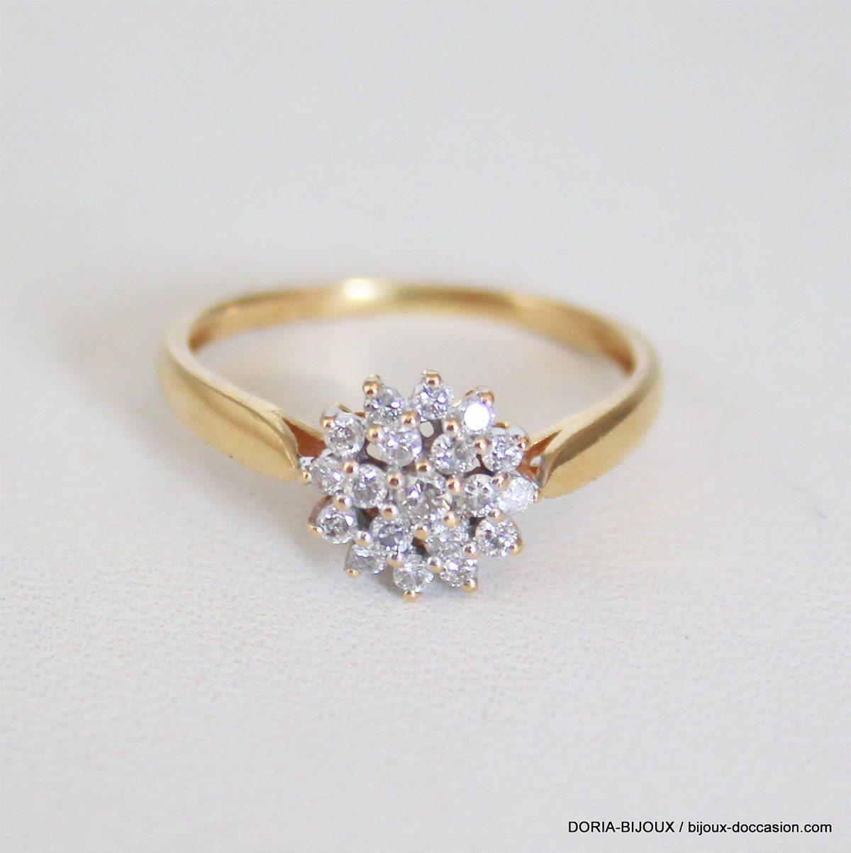bague or chou diamant