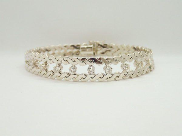 Bracelet d' occasion or blanc 18k, 750/000