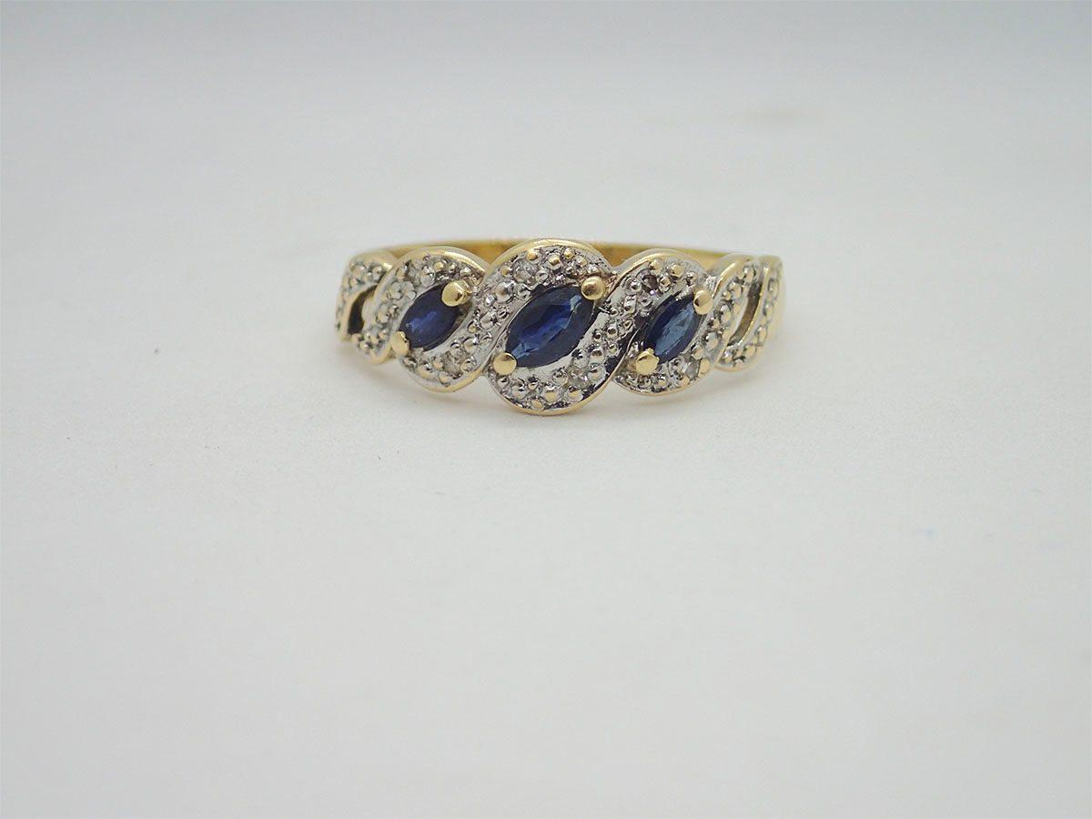code promo 78eed e7f36 Bague d'occasion Bicolore Saphir Diamant