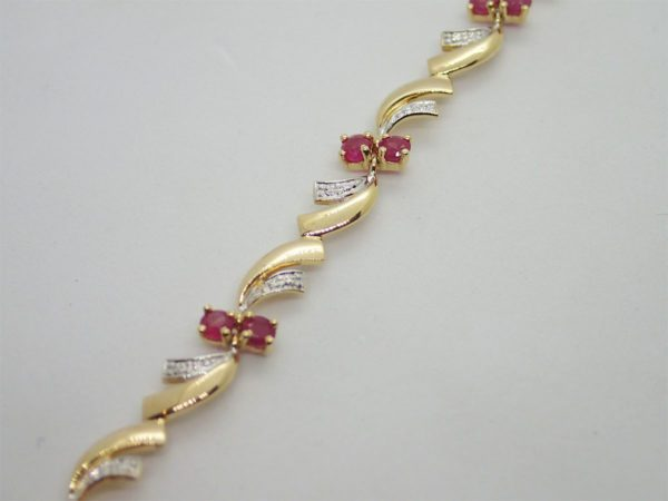 Bracelet Bicolore Rubis