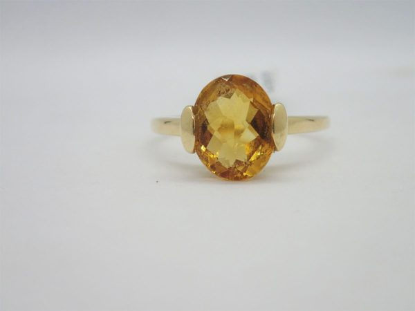 Bague d'occasion or Jaune Citrine