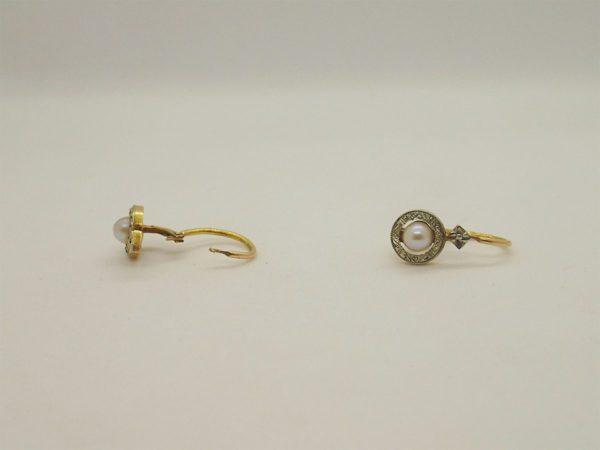 Boucles d' oreilles en or bicolore 18k, 750/000