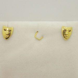 Boucles d'oreilles d' occasion en or jaune 18k, 750/000