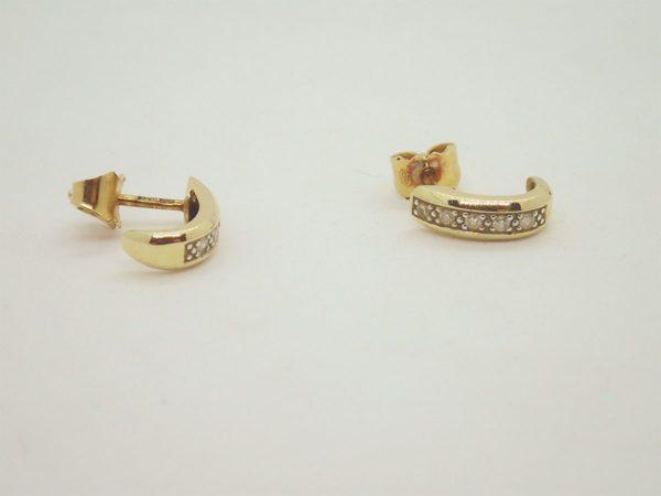 Boucles d'oreilles d'occasion en or jaune 18k, 750/000