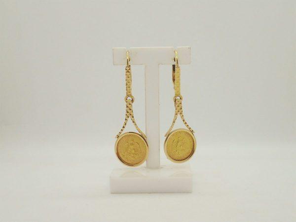 boucles d 'oreilles d' occasion en or jaune 18k, 750/000