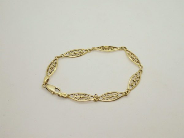 Bracelet or jaune 18k, 750/000