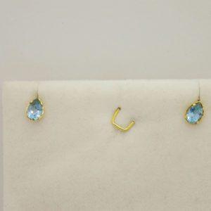 Boucles d 'oreilles d' occasion a en or jaune 18k, 750/000