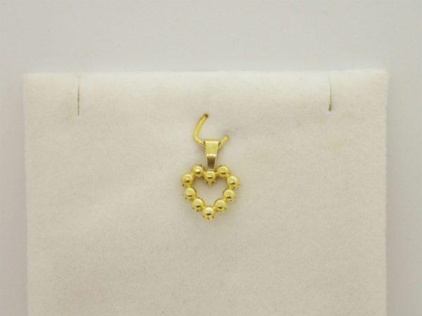 Pendentif  coeur en or jaune 18k 750/000