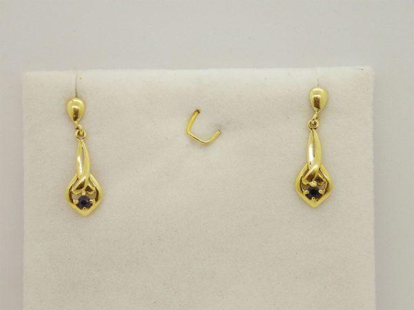 Boucles d' oreilles d' occasion en or jaune 18k, 750/000
