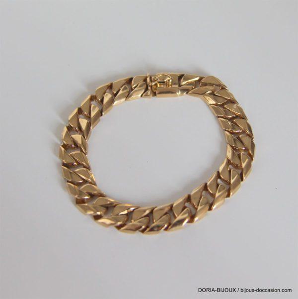 Bracelet Gourmette Or 18k 750  -12.7grs