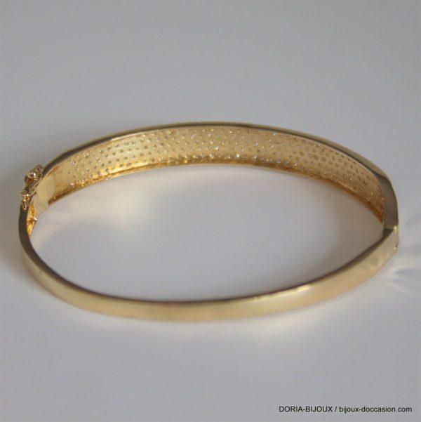 Bracelet Jonc Ouvrant Pavage Oxydes - 11.7grs