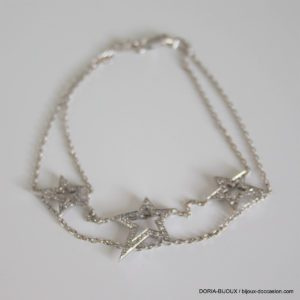 Bracelet Or Gris 750 18k 77 Diamants 5.5grs