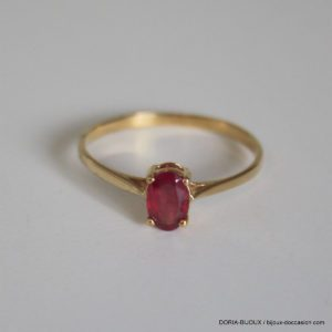 Bague Or 18k 750 Rubis 1 Grs -52