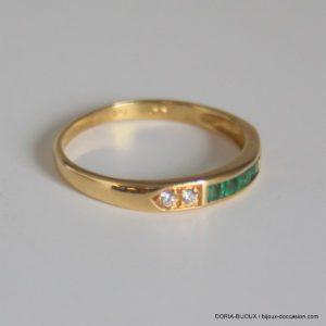 Bague Or 18k Emeraudes Diamants - 1.55grs- 52