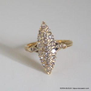 Bague Marquise Or 18k 750 Diamants- 4.5grs