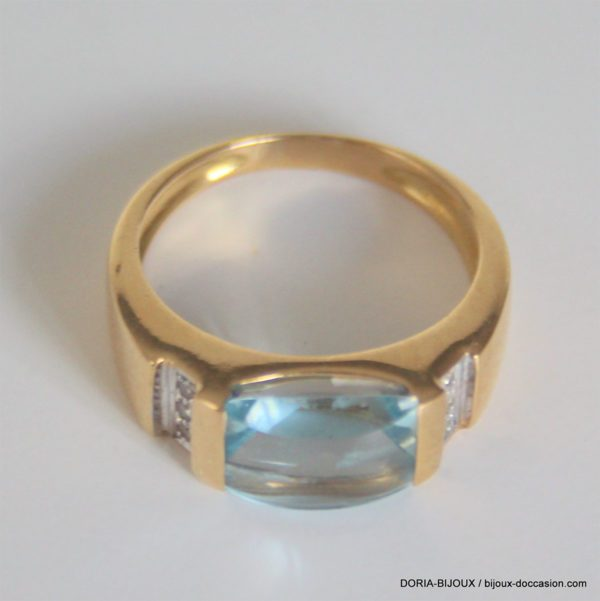 Bague Or  18k 750 Topaze - 6 Grs - 56