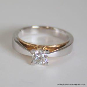 Bague Or 18k Solitaire Diamant 0.45 Carats - 5.7grs