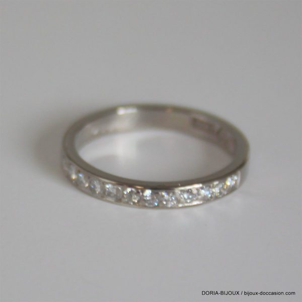 Bague Or Gris 18k 750  Diamants- 2.8grs - 52