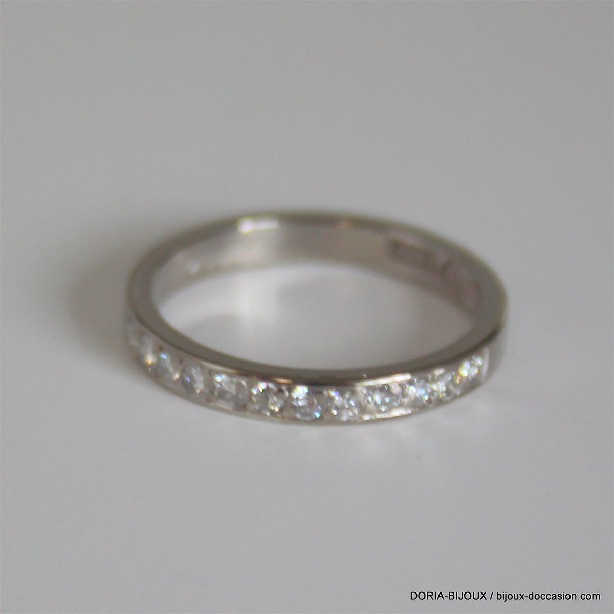 Bague Or Gris 18k 750  Diamants- 2.8grs - 52