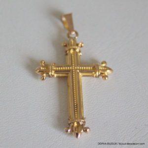 Pendentif Religieux Croix Or 18k 750/000 - 1.2grs