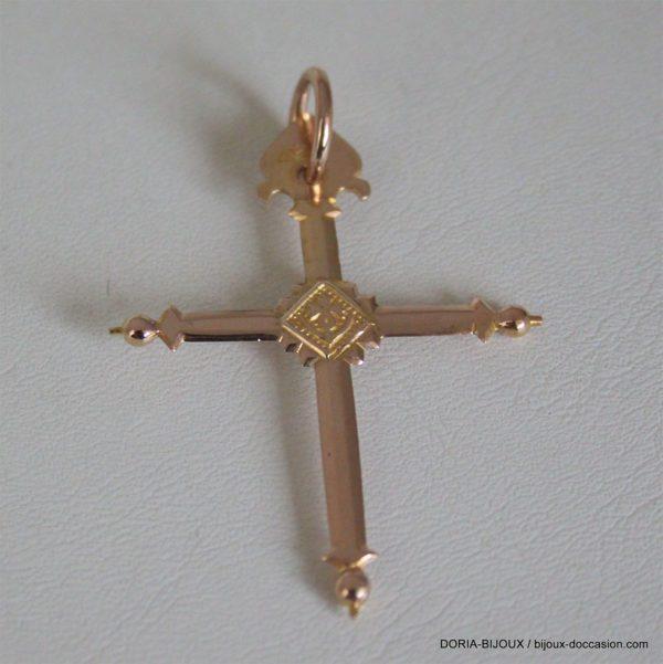 Pendentif Religieux Croix Or 18k 750/000 - 4.4grs