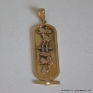 Pendentif Cartouche Egyptien Or 18k 750/000 - 3.9grs