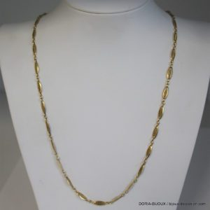 Collier Or 18k, 750/000 Maille Fantaisie 14.4grs