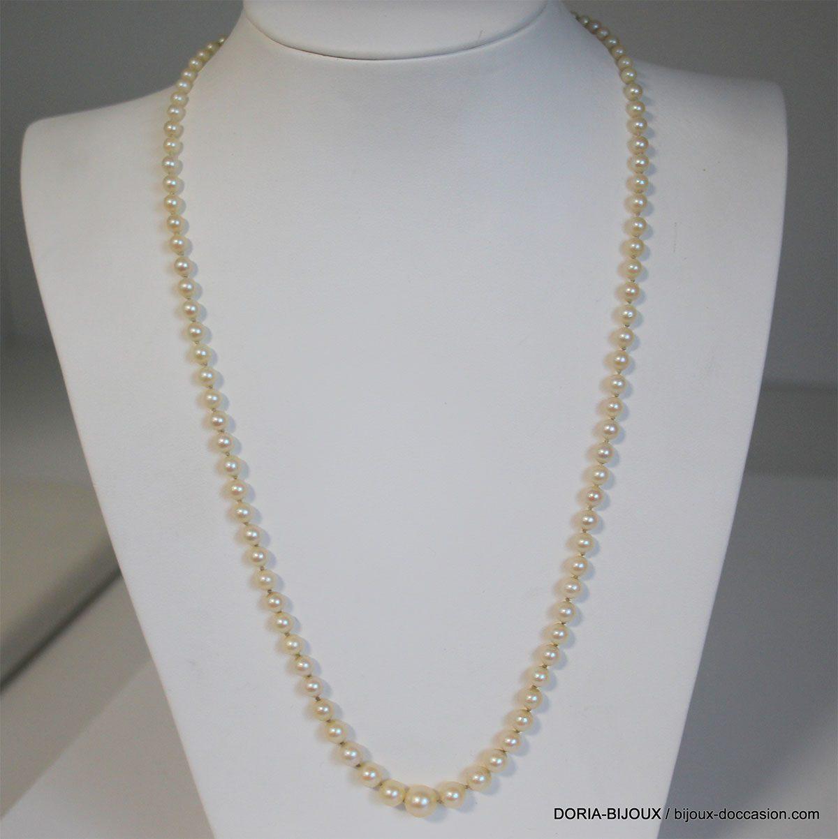 Collier Perles Or 18k 750 - 46cm- 12.7grs