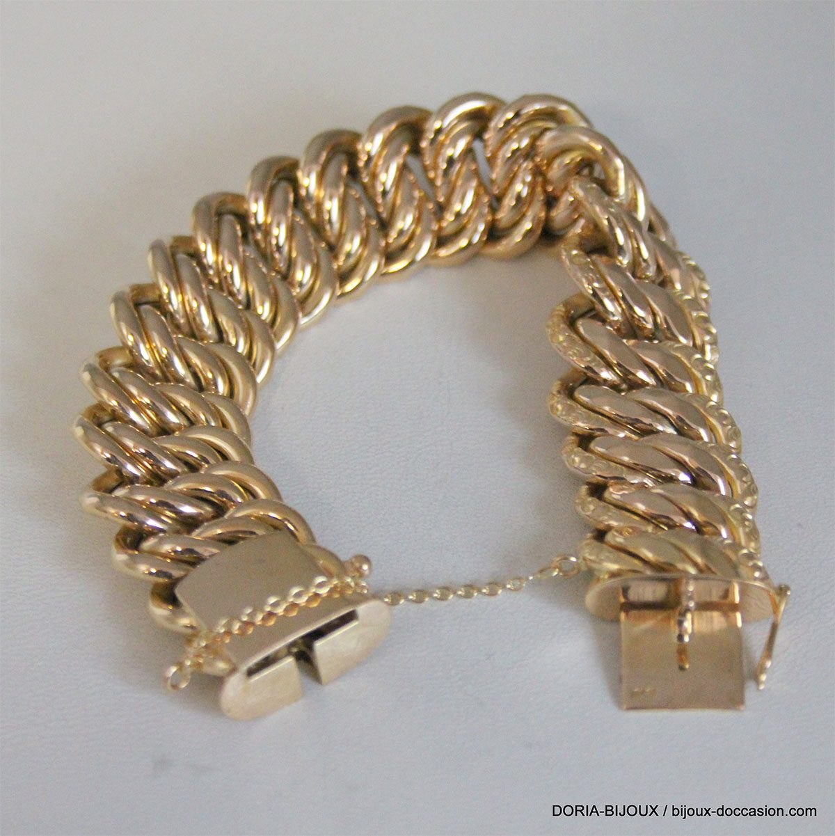 Bracelet Maille Américaine Or 18k 750 -38.9grs