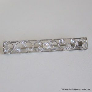 Broche Vintage Platine Diamants - 5.5grs