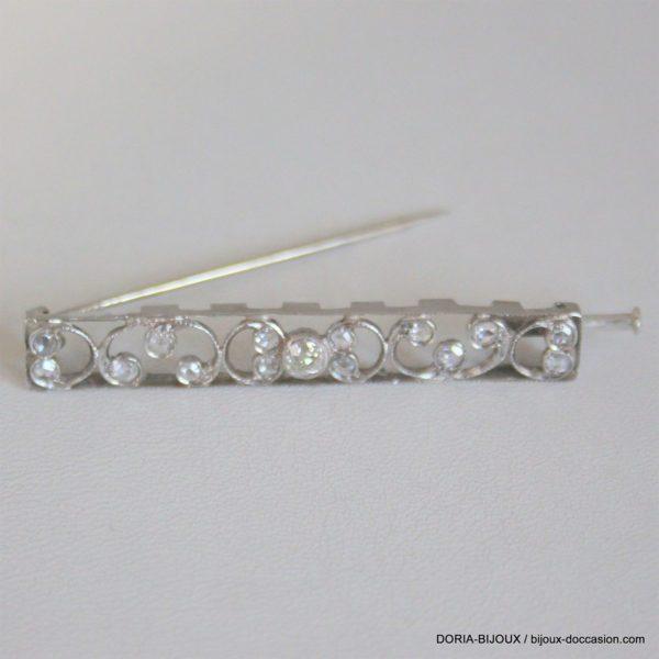 Broche Vintage Platine Diamants - 5.5grs