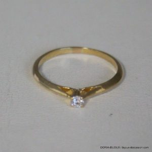 Bague Vintage Or 18k 750 Diamant 0.05cts 1.6grs -53-