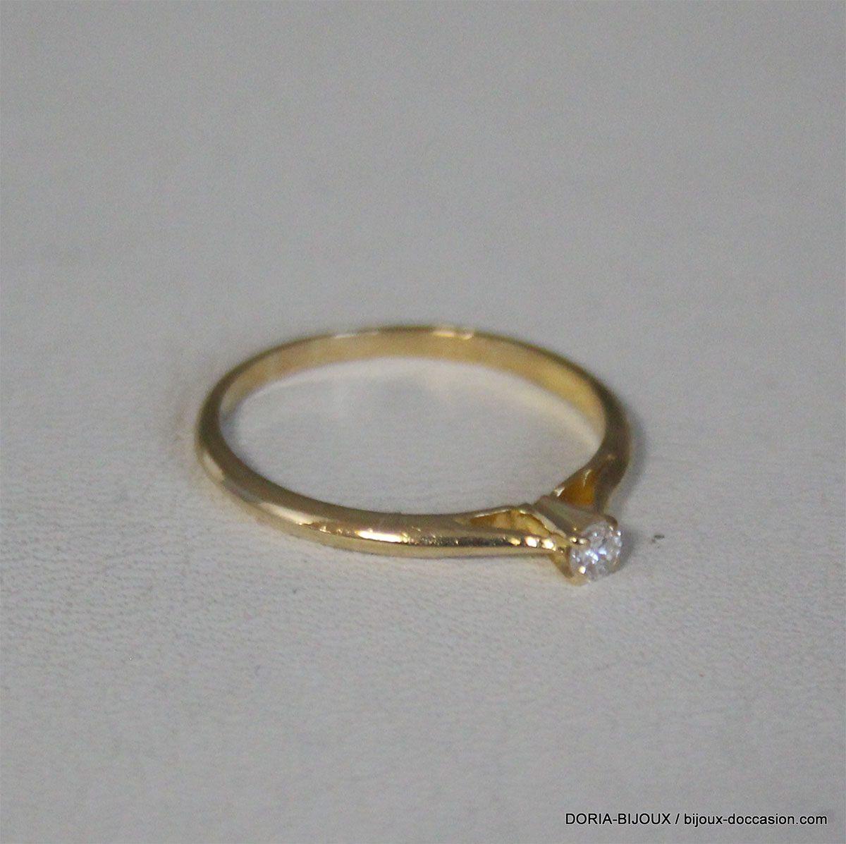 Bague Vintage Or 18k 750 Diamant 0.05cts 1.6grs -53-
