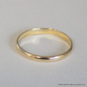 Bague Alliance Or 18k, 750/000 - 1.8grs