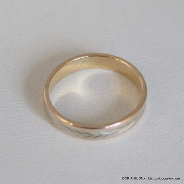 Bague Alliance Ciselé Or 18k, 750/000 - 52 - 2.9grs