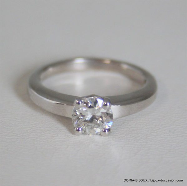 Bague Solitaire Or 750 Diamant 0.75cts 4.2grs -51