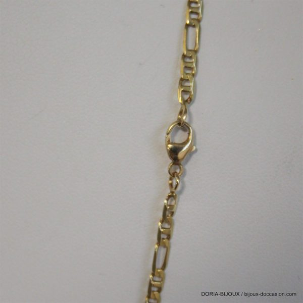 Chaine Or 750 18k Maille Marine Alternée 52cm 8.4grs