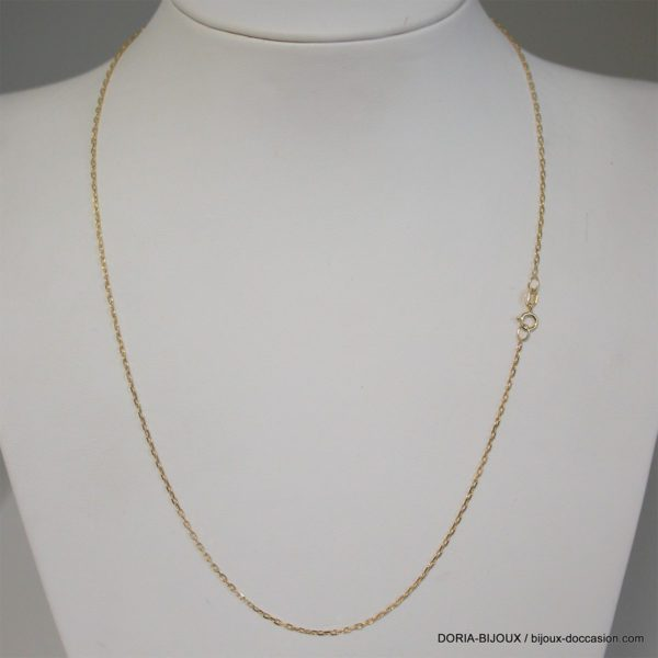 Chaine Maille Forçat Or 18k 750 - 44cm - 1.5grs