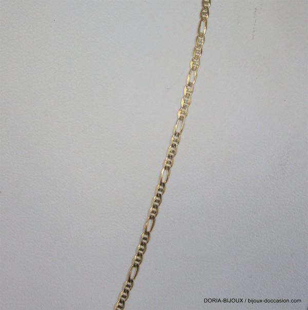 Chaine Or 18k 750 Maille Alternee 3.1grs -45cm-