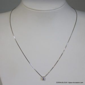 Collier Or Gris 18k 750/000 Oxydes - 42cm-  3.2grs