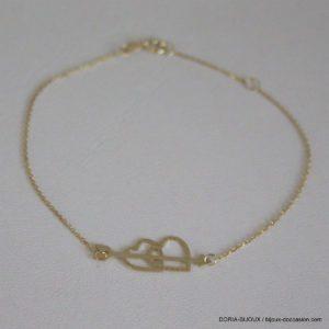 Bracelet Or Coeurs 18k 750  0.6grs