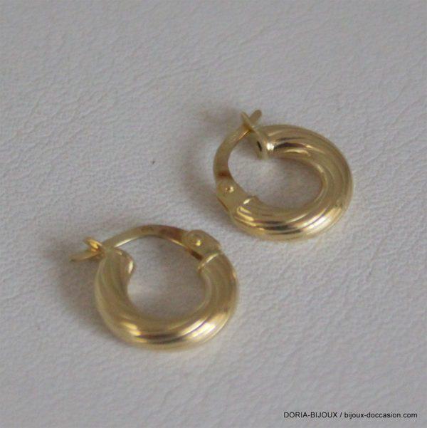 Boucles D'oreilles Créoles Or Jaune 750- 1.2grs