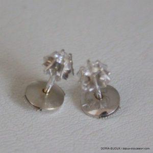 Boucles D'oreilles Or 18k Vintage Diamants-