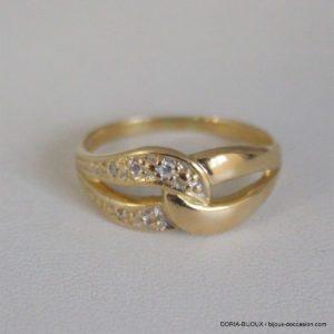 Bague Or 18k 750- 5 Diamants- 2.5grs -53